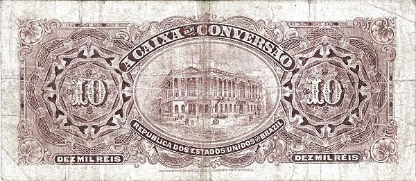Brazil 10 Mil Reis (1906 Caixa de Conversão)
