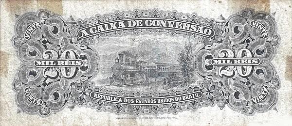 Brazil 20 Mil Reis (1906 Caixa de Conversão)