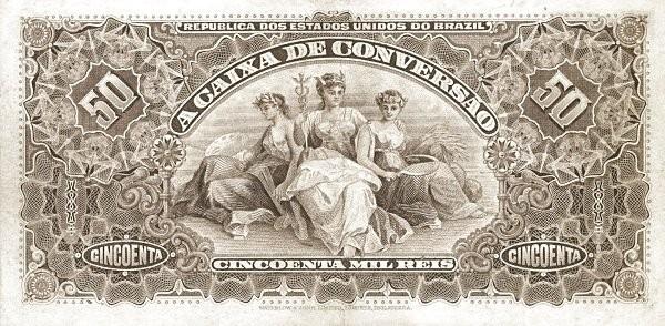 Brazil 50 Mil Reis (1906 Caixa de Conversão)