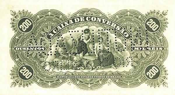 Brazil 200 Mil Reis (1906 Caixa de Conversão)