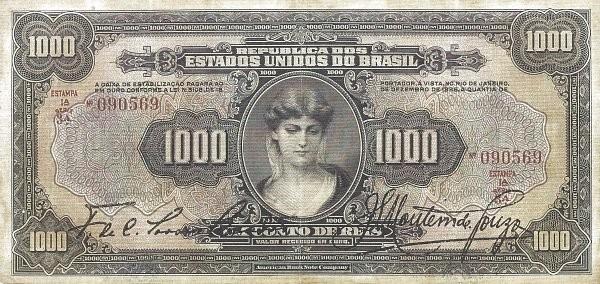 Brazil 1000 Mil Reis (1926 Caixa de Estabilização)