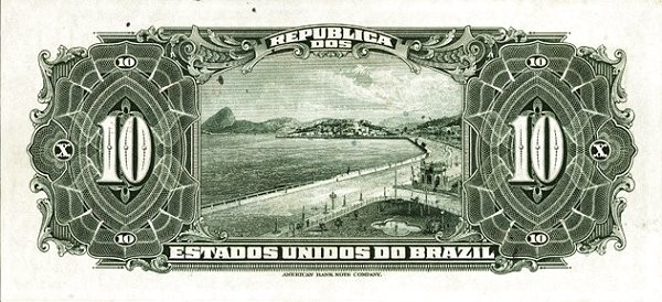 Brazil 10 Mil Reis (1926 Caixa de Estabilização Estampa 17)