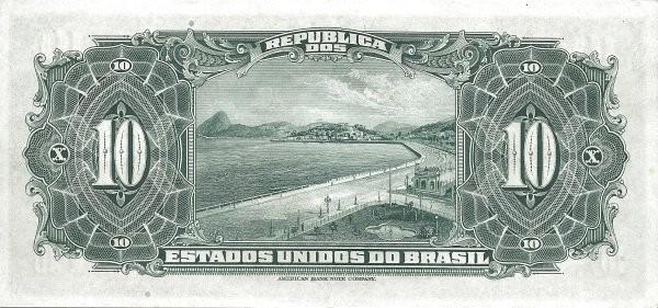 Brazil 10 Cruzeiros (1942 Casa da Moeda)
