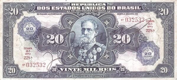 Brazil 20 Cruzeiros (1942 Casa da Moeda)