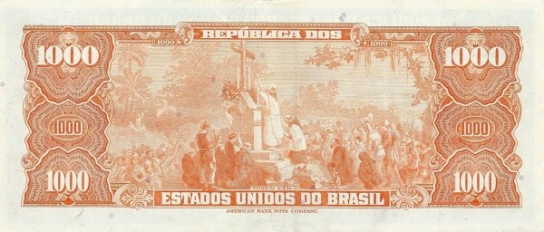 "Brazil 1000 Cruzeiros (1961-1964 ""Blue ABNC"")"