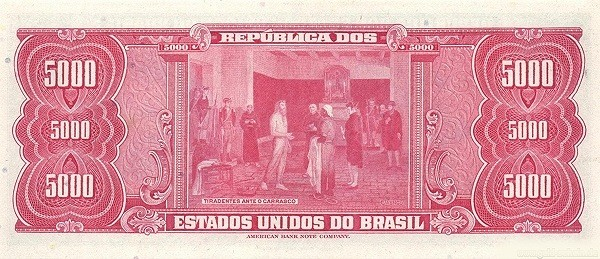"Brazil 5000 Cruzeiros (1961-1964 ""Blue ABNC"")"