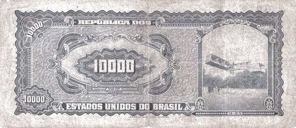 Brazil 10000 Cruzeiros (1965-1966 Banco Central do Brasil)