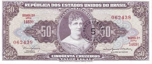 Brazil 5 Centavos (1966 Cruzeiro Novo)