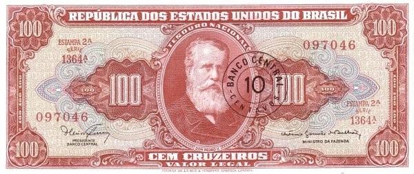 Brazil 10 Centavos (1966 Cruzeiro Novo)