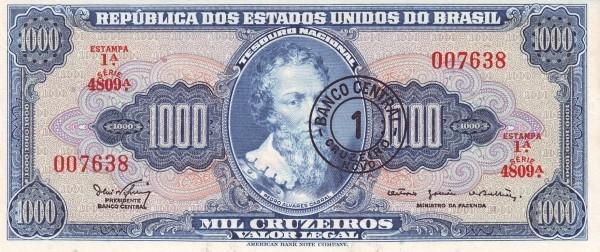 Brazil 1 Cruzeiro Novo (1966 Cruzeiro Novo)