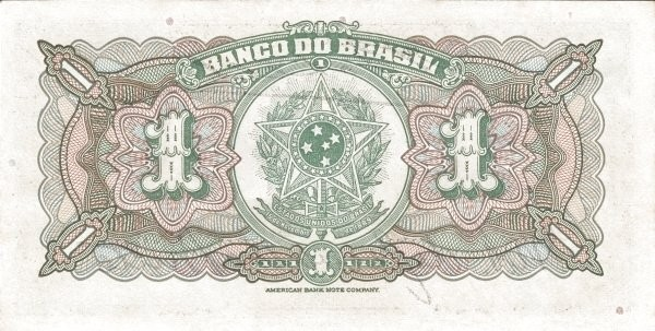 Brazil 1 Mil Reis (1923 Regular Banco do Brasil)
