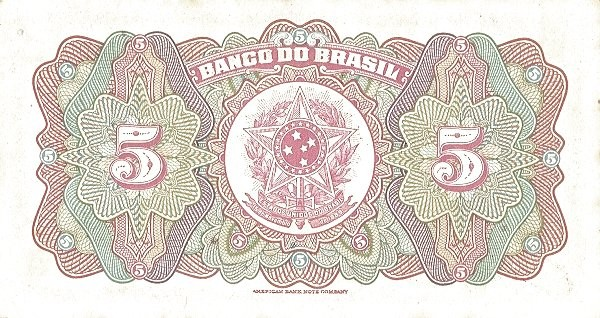 Brazil 5 Mil Reis (1923 Regular Banco do Brasil Estampa 1)