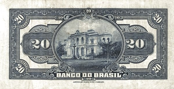 Brazil 20 Mil Reis (1923 Regular Banco do Brasil Estampa 1)
