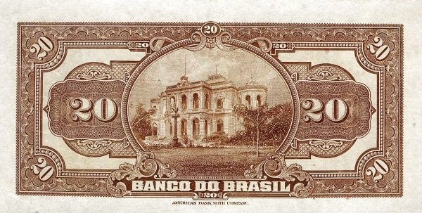 Brazil 20 Mil Reis (1923 Regular Banco do Brasil Estampa 2)