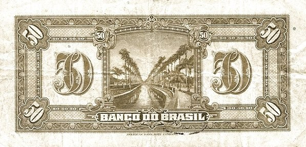 Brazil 50 Mil Reis (1923 Regular Banco do Brasil Estampa 1)