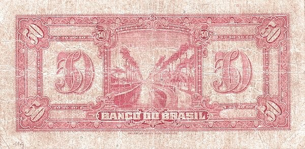 Brazil 50 Mil Reis (1923 Regular Banco do Brasil Estampa 2)