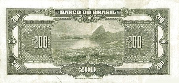 Brazil 200 Mil Reis (1923 Regular Banco do Brasil)