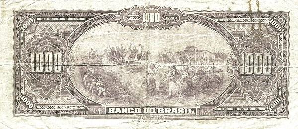 Brazil 1000 Mil Reis (1923 Regular Banco do Brasil)