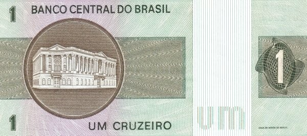 Brazil 1 Cruzeiro (1970-1981 Banco Central do Brasil)