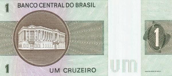 Brazil 1 Cruzeiro (1970-1981 Banco Central do Brasil)