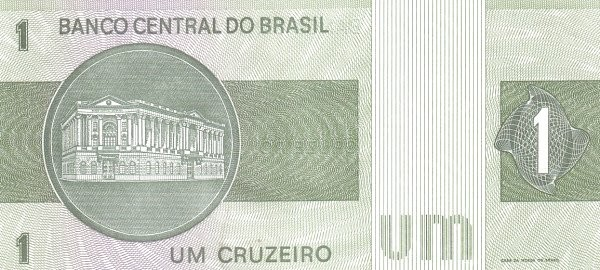 Brazil 1 Cruzeiro (1972 Banco Central do Brasil)
