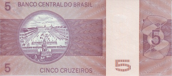 Brazil 5 Cruzeiros (1970-1981 Banco Central do Brasil)