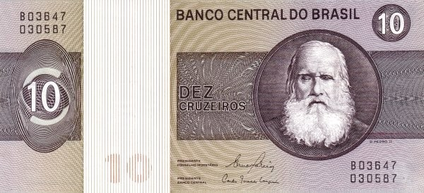 Brazil 10 Cruzeiros (1970-1981 Banco Central do Brasil)