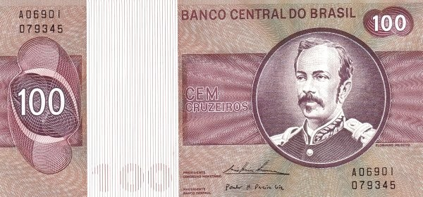 Brazil 100 Cruzeiros (1974-1981 Banco Central do Brasil)