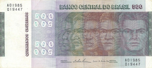 Brazil 500 Cruzeiros (1972-1974 Banco Central do Brasil-150 Years Brazilian Independence)