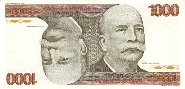 Brazil 1000 Cruzeiros (1981-1985 Banco Central do Brasil)