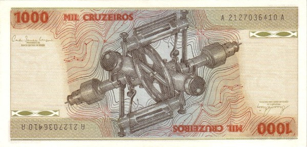 Brazil 1000 Cruzeiros (1981-1985 Banco Central do Brasil)