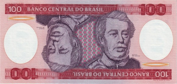 Brazil 100 Cruzeiros (1981-1985 Banco Central do Brasil)