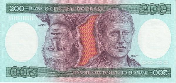 Brazil 200 Cruzeiros (1981-1985 Banco Central do Brasil)