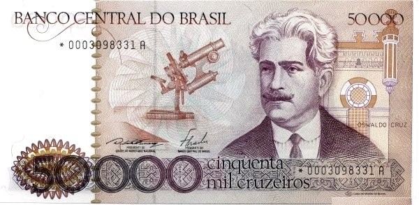 Brazil 50000 Cruzeiros (1981-1985 Banco Central do Brasil)