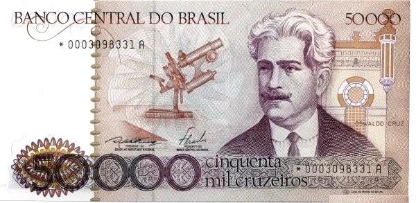 Brazil 50000 Cruzeiros (1981-1985 Banco Central do Brasil)