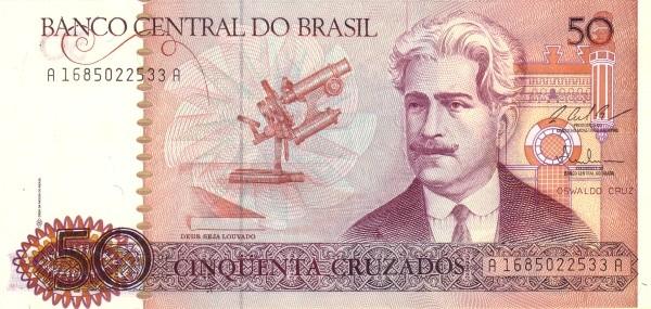 """Brazil 50 Cruzados (1986-1988 Regular """"Cruzado"""")"""