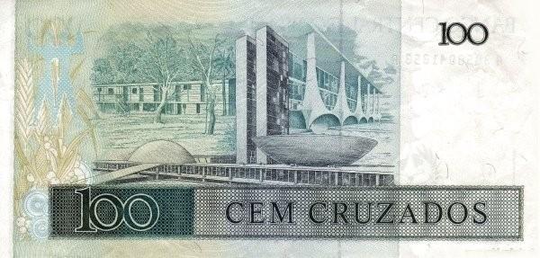 """Brazil 100 Cruzados (1986-1988 Regular """"Cruzado"""")"""