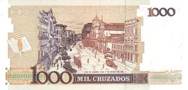 """Brazil 1000 Cruzados (1986-1988 Regular """"Cruzado"""")"""