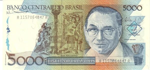 """Brazil 5000 Cruzados (1986-1988 Regular """"Cruzado"""")"""