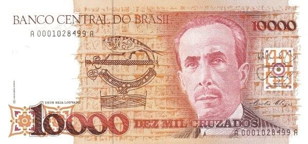 """Brazil 10000 Cruzados (1986-1988 Regular """"Cruzado"""")"""