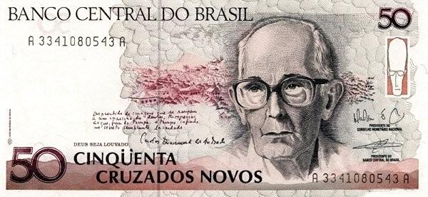 """Brazil 50 Cruzados Novos (1989-1990) Regular """"Cruzado Novo"""")"""