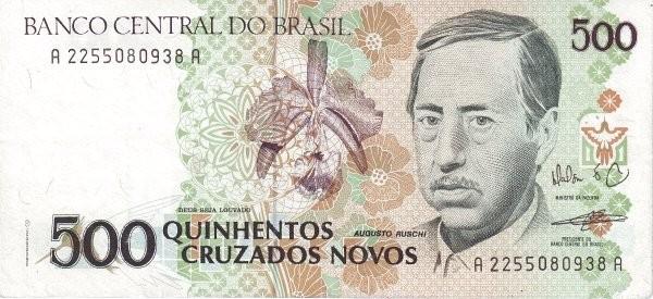 """Brazil 500 Cruzados Novos (1989-1990 Regular """"Cruzado Novo"""")"""