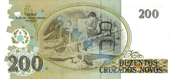 "Brazil 200 Cruzeiros (1990 Overprint ""Cruzeiro"" Provisional)"