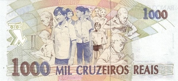 "Brazil 1000 Cruzeiros Reais (1993-1994 Regular ""Cruzeiro Real"")"