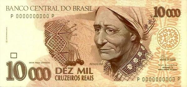 "Brazil 10000 Cruzeiros Reais (1993-1994 Regular ""Cruzeiro Real"")"