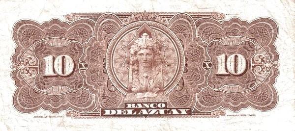 Ecuador 10 Sucres (1914-1924 Banco del Azuay-Commercial Banks)
