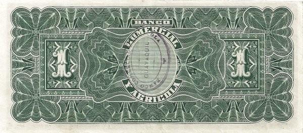 Ecuador 1 Sucre (1903-1925 Banco Comerical y Agrícola-Commercial Banks)