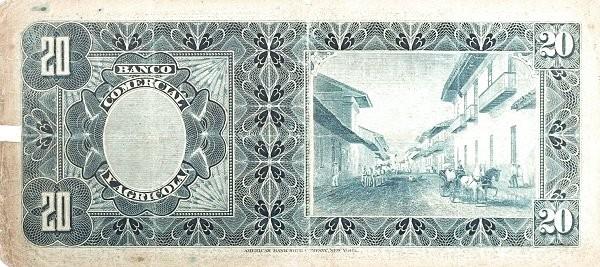 Ecuador 20 Sucres (1903-1925 Banco Comerical y Agrícola-Commercial Banks)