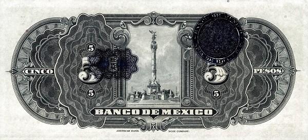 Mexico 5 Pesos (1925-1934 Banco de México)