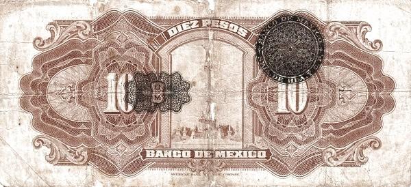 Mexico 10 Pesos (1925-1934 Banco de México)